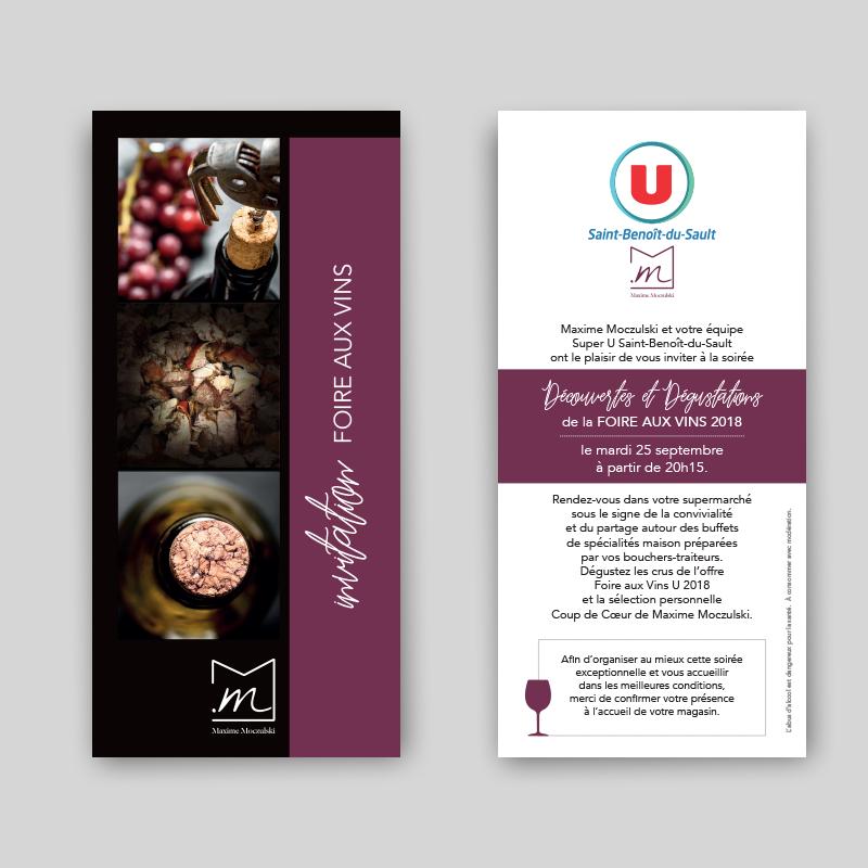 carton d'invitation foire aux vins