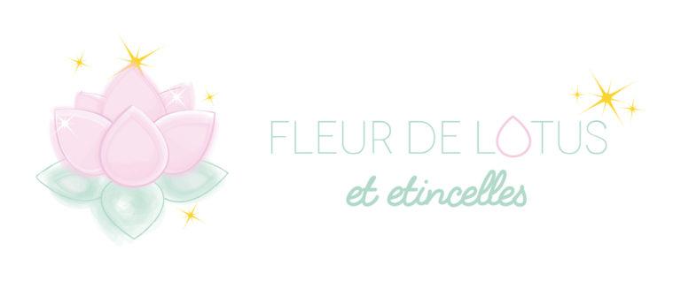 Logo Fleur De Lotus Et Etincelles